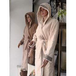 Халат за баня от висококачествен памук - ЕКРЮ от StyleZone