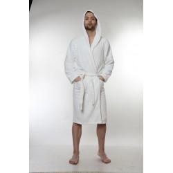 Халат за баня от висококачествен памук - БЯЛ от StyleZone