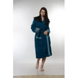 Халат за баня от висококачествен памук - ТЮРКОАЗ от StyleZone