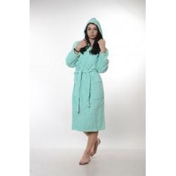 Едноцветен халат за баня 100% памук ритон - РЕЗЕДА от StyleZone