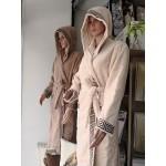 Халат за баня от висококачествен памук - КАПУЧИНО от StyleZone