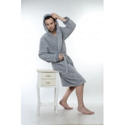 Халат за баня от висококачествен памук - СВЕТЛОСИВ от StyleZone