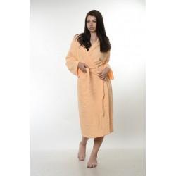 Едноцветен халат за баня 100% памук ритон - ЦВЯТ ПРАСКОВА от StyleZone