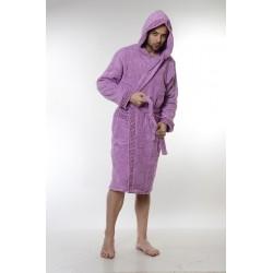 Халат за баня от висококачествен памук - ЛИЛАВ от StyleZone