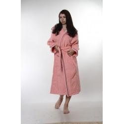 Халат за баня от висококачествен памук - СВЕТЛОРОЗОВ от StyleZone