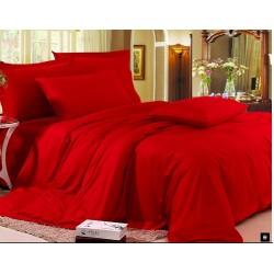 Едноцветно спално бельо от памучен сатен - ЧЕРВЕНО от StyleZone