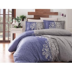 Луксозно спално бельо от сатениран памук- HYPNOZ INDIGO от StyleZone