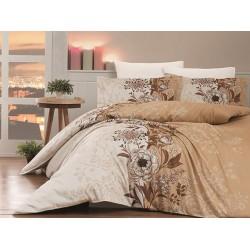 Луксозно спално бельо от сатениран памук- PERA KAHVE от StyleZone