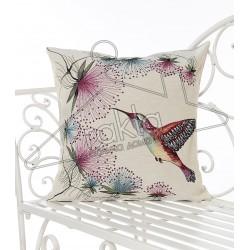 Испанска декоративна възглавница с цип - КОЛИБРИ от StyleZone