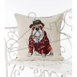 Испанска декоративна калъфка за възглавница с цип - БУЛДОГ от StyleZone