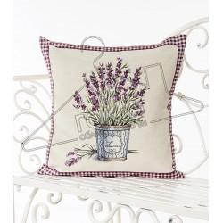Испанска декоративна калъфка за възглавница с цип - ЛАВАНДУЛА от StyleZone