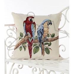 Испанска декоративна калъфка за възглавница с цип - ПАПАГАЛИ от StyleZone