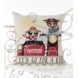 Испанска декоративна възглавница с цип - ПРИЯТЕЛИ от StyleZone