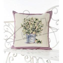 Испанска декоративна калъфка за възглавница с цип - БОСИЛЕК от StyleZone