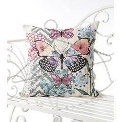 Испанска декоративна калъфка за възглавница с цип - ВИНТИДЖ ПЕПЕРУДА от StyleZone