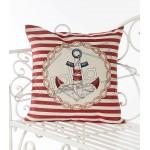 Испанска декоративна кaлъфка за възглавница с цип - КОТВА ЧЕРВЕНО от StyleZone