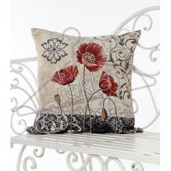 Испанска декоративна калъфка за възглавница с цип - МАК от StyleZone