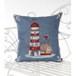 Испанска декоративна калъфка за възглавница с цип - МОРСКИ ФАР от StyleZone
