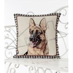 Испанска декоративна калъфка за възглавница с цип - НЕМСКА ОВЧАРКА от StyleZone