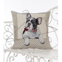 Испанска декоративна калъфка за възглавница с цип - ФРЕНСКИ БУЛДОГ от StyleZone
