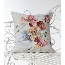 Испанска декоративна калъфка за възглавница с цип - ЦВЕТЧЕТА от StyleZone