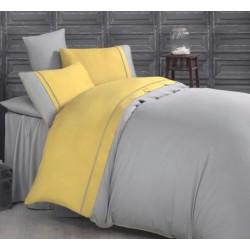 Двуцветно спално бельо от 100% сатениран памук - Kharma V1 от StyleZone