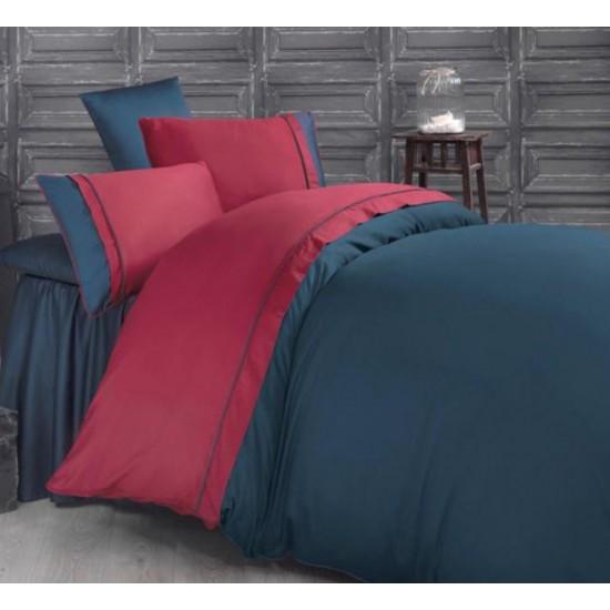 Двуцветно спално бельо от 100% сатениран памук - Kharma V4 от StyleZone