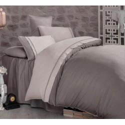 Двуцветно спално бельо от 100% сатениран памук - Kharma V5 от StyleZone
