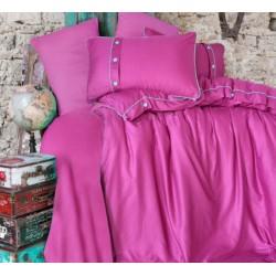 Едноцветно спално бельо от 100% сатениран памук - Pavane V1 от StyleZone