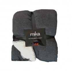 Меко едноцветно одеяло - ТЪМНО СИВО/ЧЕРНО от StyleZone