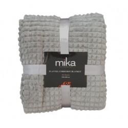 Меко едноцветно одеяло каре - СИВО от StyleZone