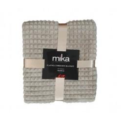 Меко едноцветно одеяло каре - СВЕТЛО КАФЯВО от StyleZone