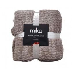 Меко едноцветно одеяло на вълни - СВЕТЛО КАФЯВО от StyleZone