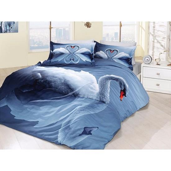 3D Спално Бельо Памучен Сатен - SWAN от StyleZone