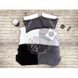 Вип спално бельо от висококачествен сатениран памук - JADE GRI от StyleZone