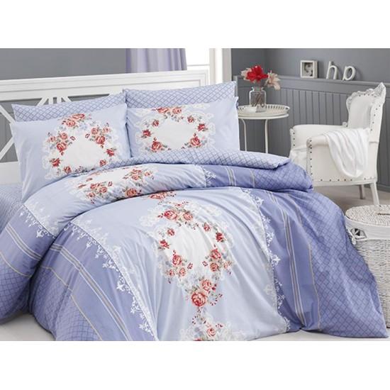 Лимитирана колекция спално бельо от 100% памук - DELFINA INDIGO от StyleZone