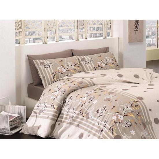 Лимитирана колекция спално бельо от 100% памук - IVY KAHVE от StyleZone