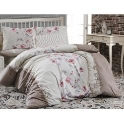 Лимитирана колекция спално бельо от 100% памук - KAREN KAHVE от StyleZone