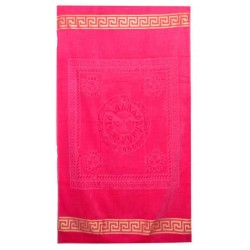 Едноцветна плажна кърпа от висококачествен памук - ЦИКЛАМА от StyleZone