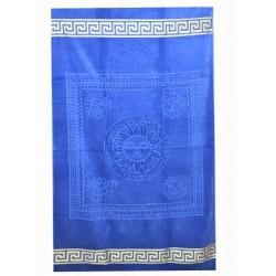 Едноцветна плажна кърпа от висококачествен памук - СИНЯ от StyleZone