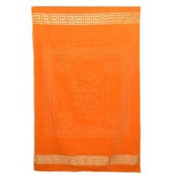 Едноцветна плажна кърпа от висококачествен памук - ОРАНЖЕВА от StyleZone