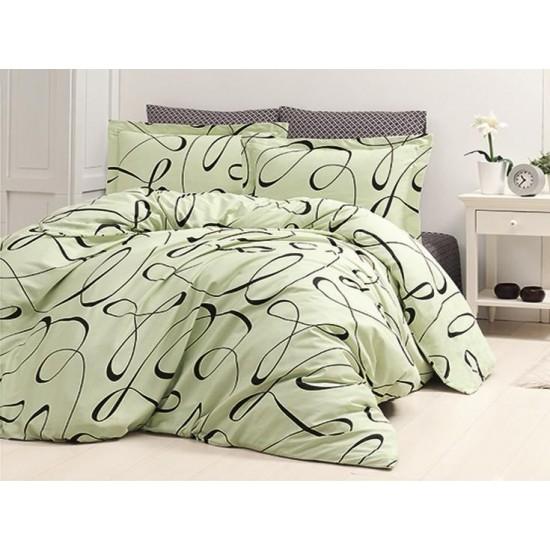 Луксозно спално бельо от 100% сатениран памук - CALISTO YESIL от StyleZone