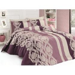Луксозно спално бельо от 100% сатениран памук - KAVIN PUDRA от StyleZone