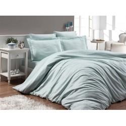 Луксозно спално бельо от 100% памучен сатен - жакард - LOTUS MINT от StyleZone