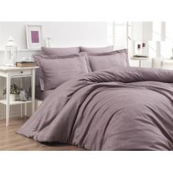 Луксозно спално бельо от 100% памучен сатен - жакард - SARE LEYLAK  от StyleZone