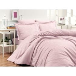 Луксозно спално бельо от 100% памучен сатен - жакард - SARE PEMBE от StyleZone