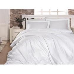 Луксозно спално бельо от 100% памучен сатен - жакард - CARLO BEYAZ от StyleZone