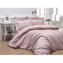 Луксозно спално бельо от 100% памучен сатен - жакард - TIAMO PUDRA от StyleZone