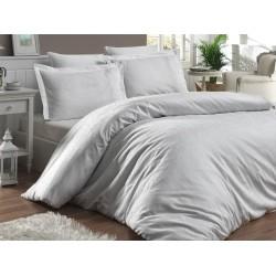 Луксозно спално бельо от 100% памучен сатен - жакард - MISRA BEYAZ от StyleZone