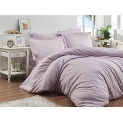 Луксозно спално бельо от 100% памучен сатен - жакард - MONNA VIOLET от StyleZone